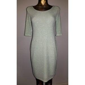 Asos | Mint Sparkle Stretch Maternity Dress